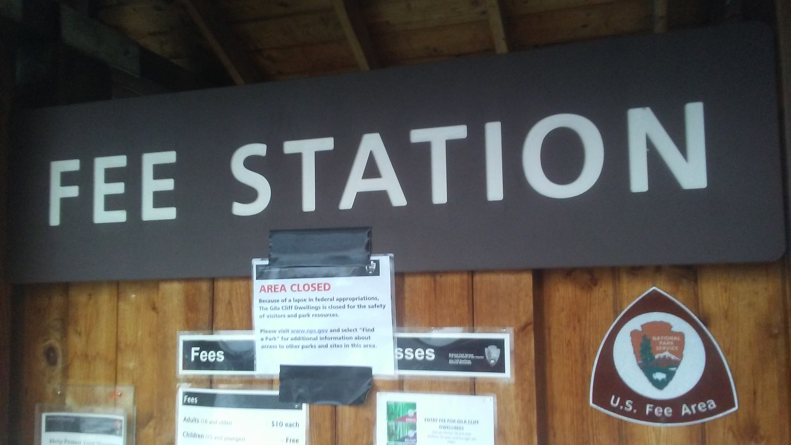 GilaCliff Fee Station