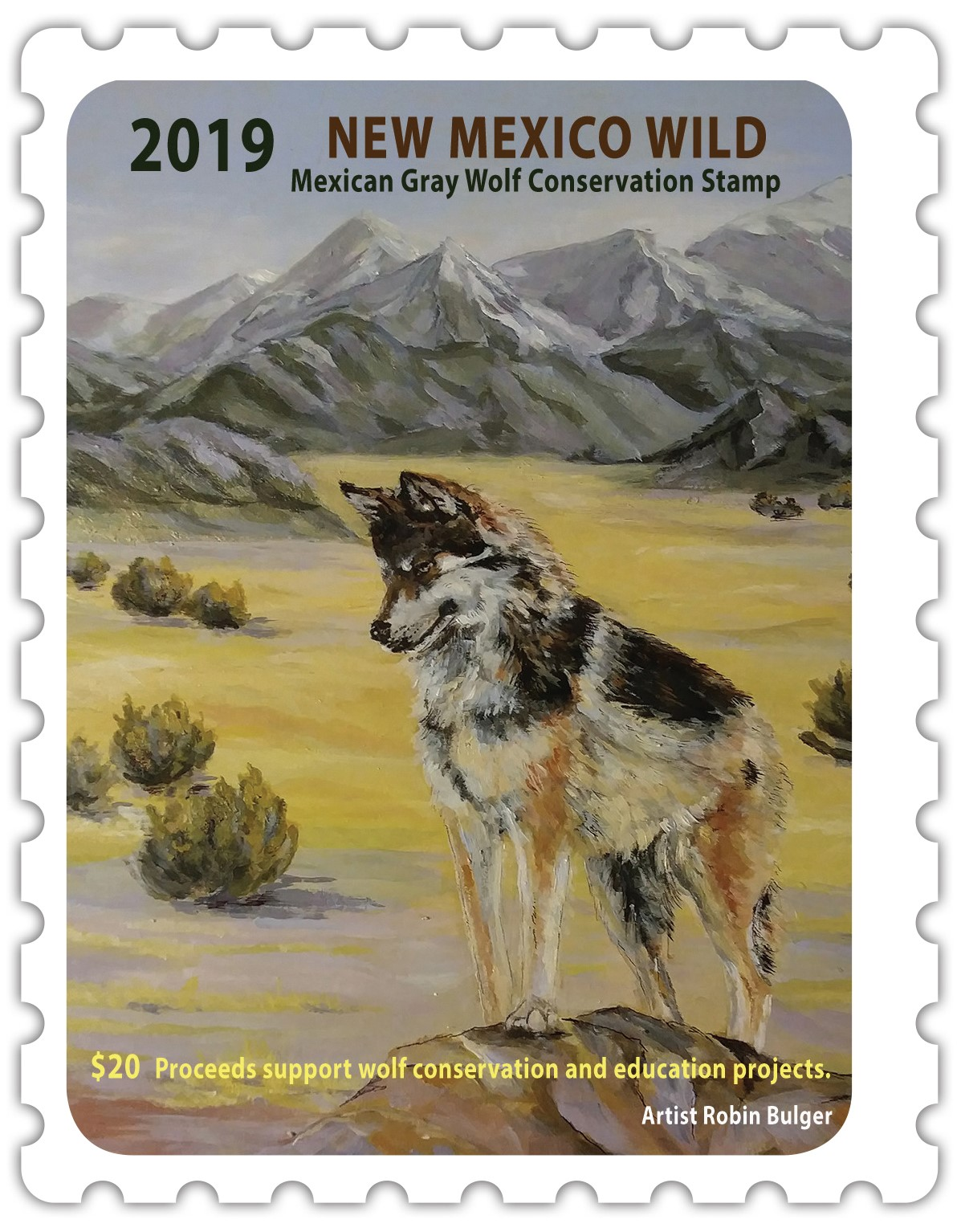 Wolf Stamp 2019 image Resized